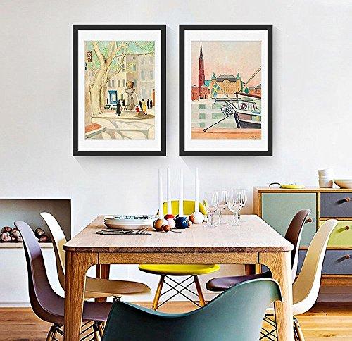 ZSH Salon Peintures Décoratives Peintures Encadrées Simples Peintures Murales Accueil Peintures,Noir,40 * 60cm