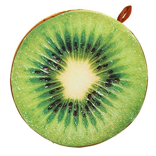 Vococal® Fruit Ronde Chaise de Bureau Retour Coussin de Soutien Canapé Coussin D'Kiwi