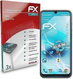 atFoliX Skärmskydd är kompatibel med Wiko View 3 Pro Film, ultraklart och flexibelt FX Skärmskyddsfilm (3X)