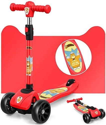 Scooter des Enfants 2-5-7 Ans Voiture de mètre à Quatre Roues de l'enfant glissière Se Pliante instantanée Scooter, Scooter des Enfants, Scooter d'enfant en Bas age,