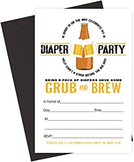 Best beer and diaper party invitations Reviews