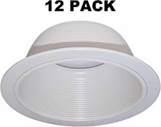 """6"""" Inch White Baffle Recessed Can Light Trim Replaces HALO 310 W JUNO 24W-WH - 12 PACK"""