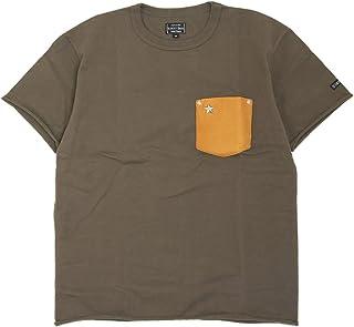 (ショット) Schott 半袖 Tシャツ 鹿革 ポケット ワンスター 国内正規品 オリーブ 3183001-75
