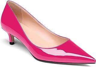 Scarpe con Tacco Medio da Donna, Scarpe con Tacco Basso a Forma di Gattino, Scarpe con Punta a Punta da Donna, Slip on Pumps