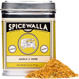 Spicewalla Garlic Herb Seasoning 2.6 oz | Salt Free, No MSG, Non GMO | Herbs and Spices Blend