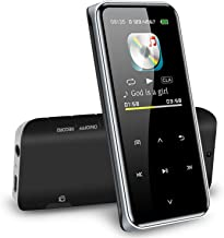 $48 » XWWS Bluetooth HiFi MP3 Music Player with Touch Screen, Portable Lossless Music Walkman Lossless Sound FM Radio