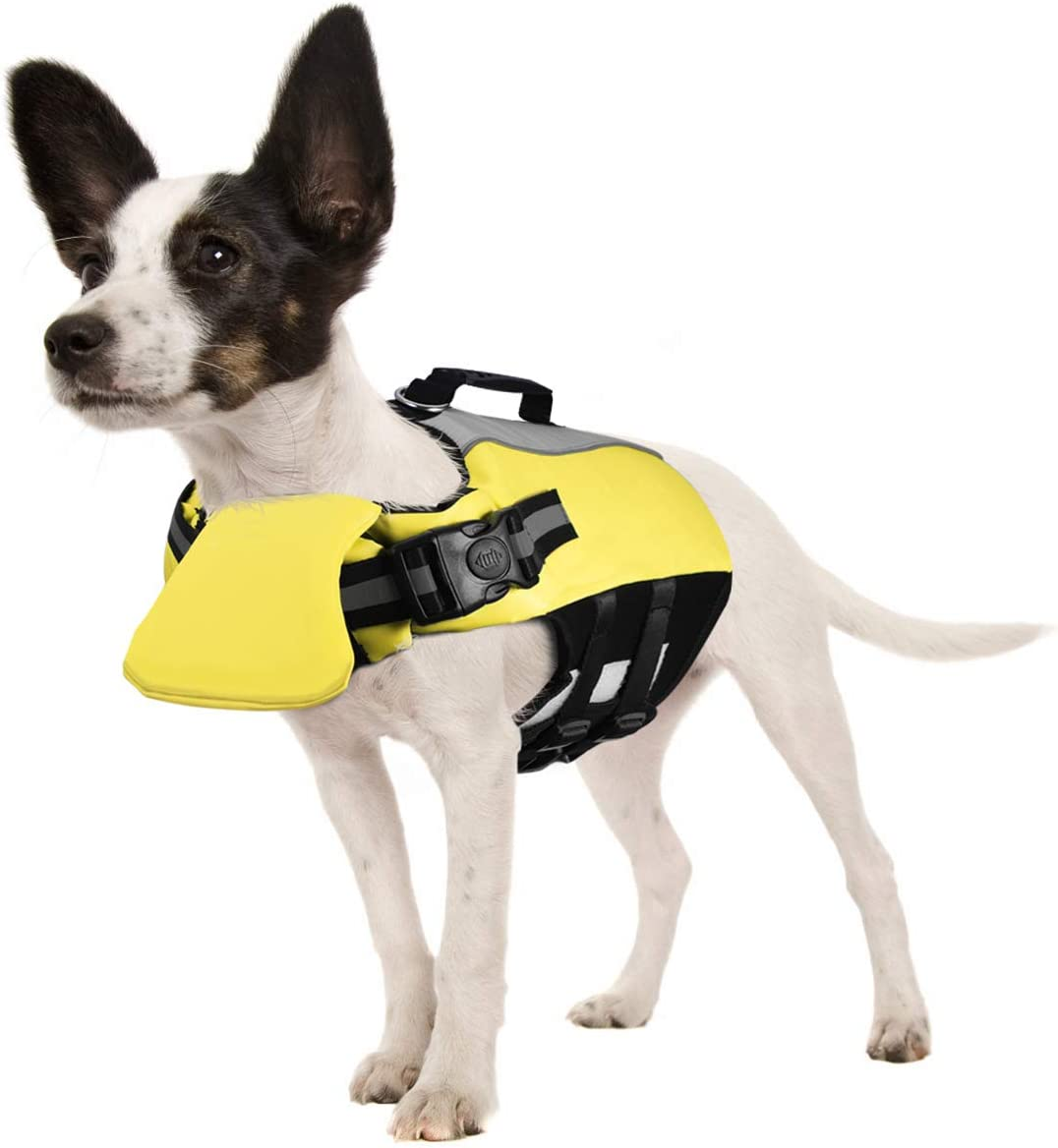 POPETPOP Max 80% OFF Dog Life Jacket for Swimming Float Coat Pet - Deluxe Reflectiv