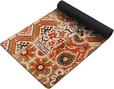 """FUNME Natural Printed Non Skid Rubber Backed Front Door Floor Mat Area Rug for Laundry Room Mat Durable Waterproof Runner (20""""x48"""", Lucky Totem)"""