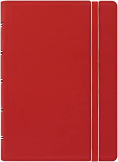 FILOFAX REFILLABLE NOTEBOOK CLASSIC, Pocket Red - Elegant leather-look cover with moveable pages - Elastic closure, index, pocket and page marker (B115002U)