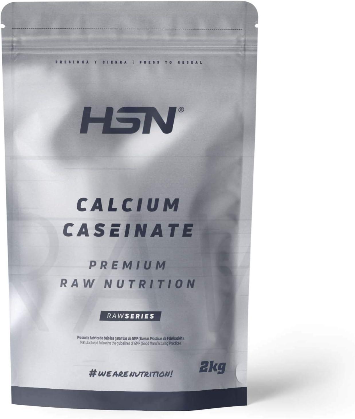 Caseinato de Calcio de HSN | Proteína de Liberación Lenta | Ideal para Antes de Dormir o Entre Comidas | Vegetariano, Sin Grasas, Sin Azúcares, Sin ...