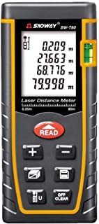 SNDWAY SW-T80 Digital Laser Rangefinder 80M Distance Meter Tape Measure Area Volume