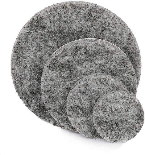 Filzgleiter für Möbelfüße, 100 Stück in Box, einfach zu verwenden auf Tischbeinen, Stühlen und Sofas, verhindert Quietschmöbel und schützt Ihren Boden. 4 Größen, 21 mm, 26 mm, 40 mm, 55 mm., grau