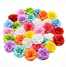 fake flowers heads Bulk Artificial Silk Mini Rose Flower Head Wedding Home Decoration DIY Garland Scrapbook Gift Box Craft Fake Flower 30pcs/lot 4.5cm (Multicolor)
