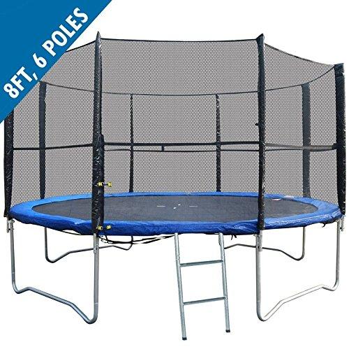 BodyRip PREMIUM BOUNCE Trampoline Safety 8FT NET (for 6-pole trampolines)