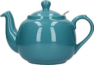 London Pottery Farmhouse Loose Leaf Teapot with Infuser, Ceramic, Aqua, 6 Cup (1.5 Litre)