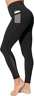 neppein Leggings Deportivos para Mujer, Cintura Alta Leggings Mallas con Bolsillos Pantalones de Yoga Elásticos para Fitne...