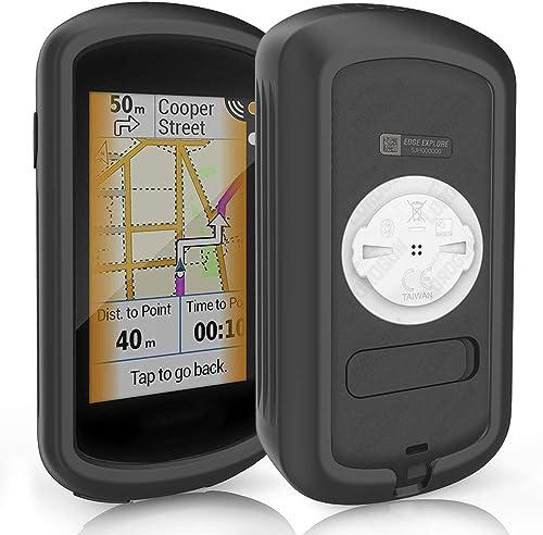 TUSITA Cas Compatible avec Garmin Edge GPS Explorer - Housse de Protection en Silicone Peau - écran Tactile Touring B...