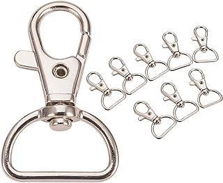 2x Schlüsselring rund platin Schlüsselanhänger 25 x 4 mm verschluss armband