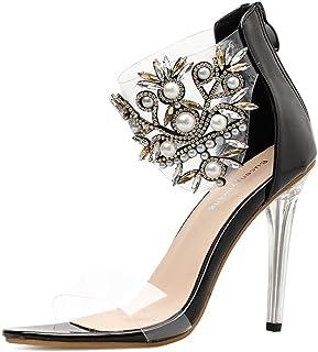 Zapatos Pvc De Mujer esSandalias Para Tacón Amazon n0NwkXOP8