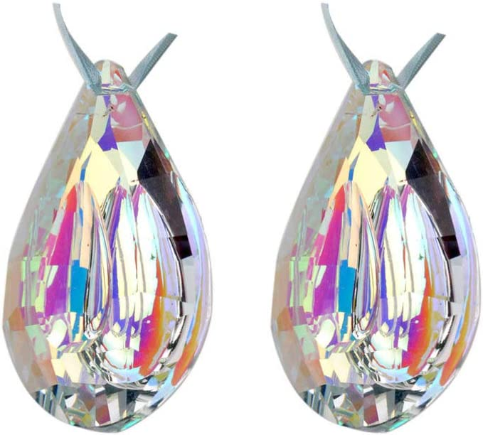 Popular products EXCEART 2 Max 86% OFF Pcs Crystal Prisms Concave Colorful Teardrop Pendants