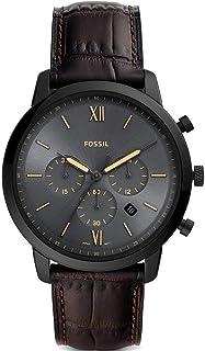 Fossil 32011520 - Cronógrafo para hombre (acero inoxidable, piel)