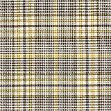 Hosenstoff Stretch Glencheck – beige/gelb — Meterware