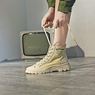 Bottes Martin Femme,Boots Femme Chaussures Bottes DHiver Karin Martin Chaussures Femmes De Style Britannique /À T/ête Ronde Occasionnels De La Mode F/éminine Confortable Chaud Bottines Femme Boots