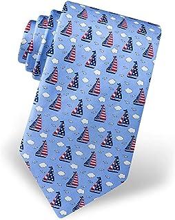 Strawberryran, Corbata 100% seda náutica estribor y rayas de los hombres de la bandera americana corbata corbata