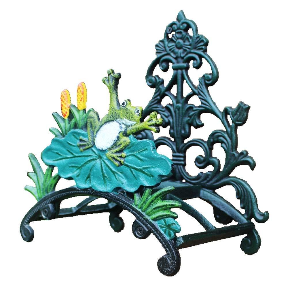Manguera de hierro titular Antiguo yarda del jardín de la pared decorativos Montada moldeada manguera de