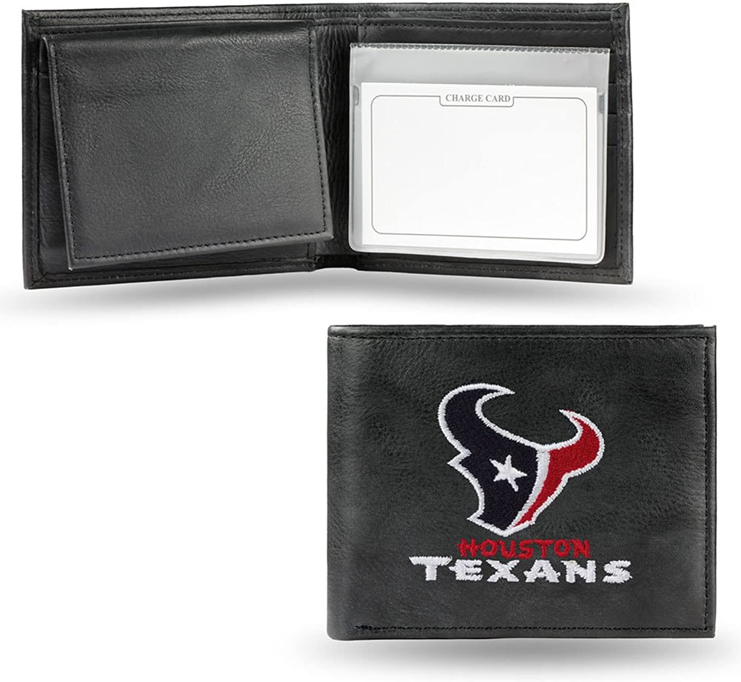 NFL Houston Texans Embroidered Genuine Cowhide Leather Billfold Wallet