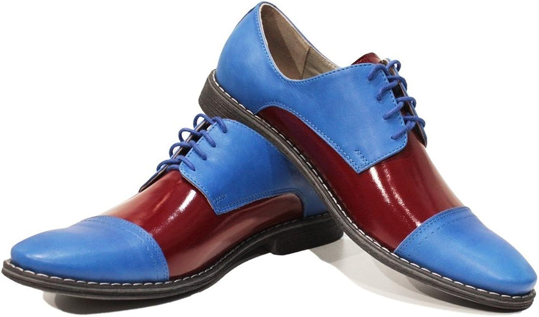 Modello Modello Modello Flippo - handgjord italiensk lädermäny Färgblå Oxford Klädskor - Cowhide Smooth läder - Lace -Up  Njut av att spara 30-50% rabatt