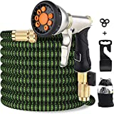 Upgraded Expandable Garden Hose 50 FT 100FT Retractable Water Hose with 4-Layers Flex