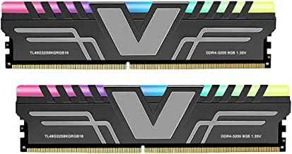 V-Color Prism RGB 16GB (2 x 8GB) DDR4 3200MHz (PC4-25600) CL16 1.35V Desktop Memory -Grey (TL48G32S8KGRGB16)