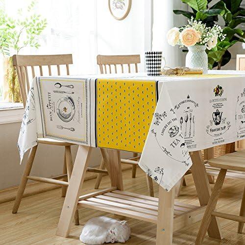 Tuch-Baumwolltischdecke ist rechteckige Tischdecke einfaches modernes, Gold und Silber, 140X210Cm