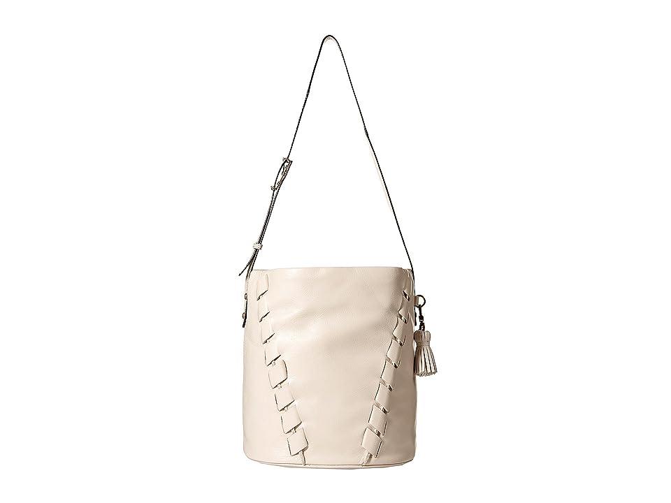 The Sak Barolo Bucket Hobo By The Sak Collective (Stone Kuta) Hobo Handbags, Silver