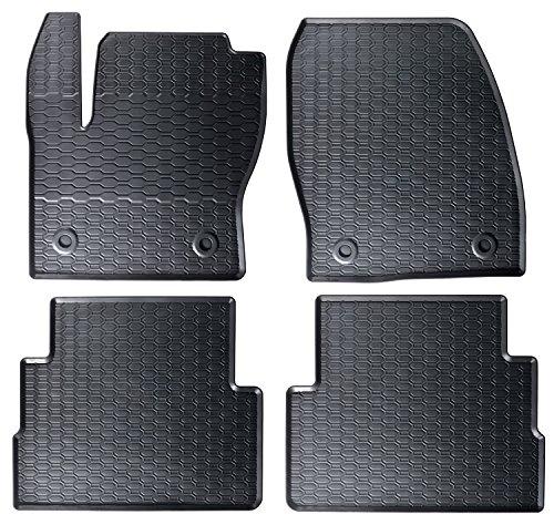 mächtig der welt AME – Precision Fit Black Honeycomb Rubber Auto Bodenmatte mit reduziertem Geruch…