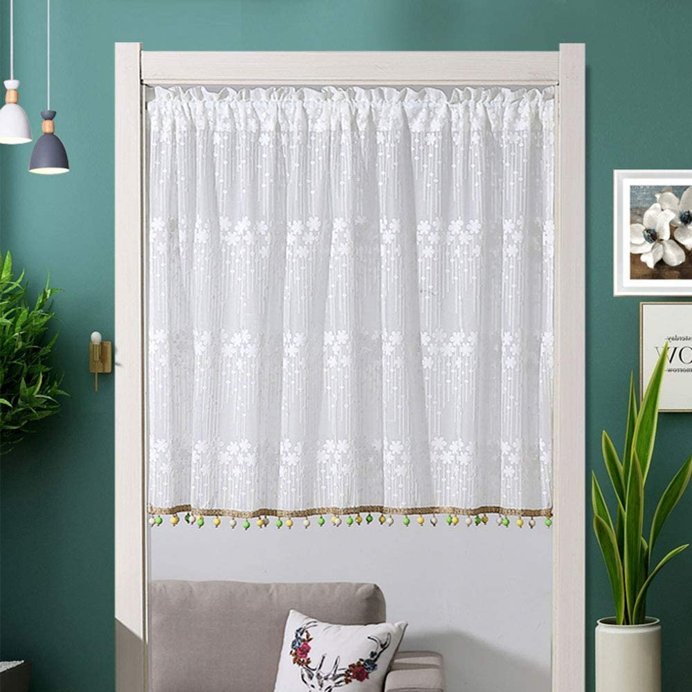 Japan Maker New F-XW Embroidered Tier Curtains Semi Sheer Treatmen At the price of surprise Voile Window