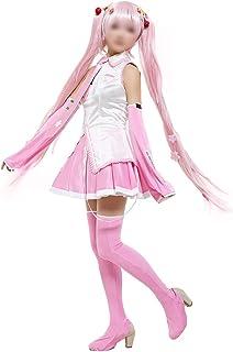 CHENJUNAMZ El Partido romántico Traje de Cosplay Sakura Miku Hatsune con Sakura Pelo de la Mujer Pernos de del Vestido (Co...