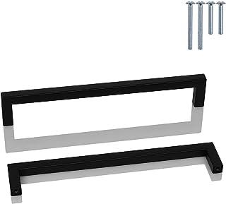 10 Pack zwart roestvrij stalen kast handvat - Probrico 192mm keuken deurgrepen meubellade T bar trekt