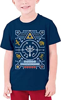 guoweiweiB Camisetas de Manga Corta para niño, Legend of Zelda Graphic Youth T-Shirt Boys Girls tee