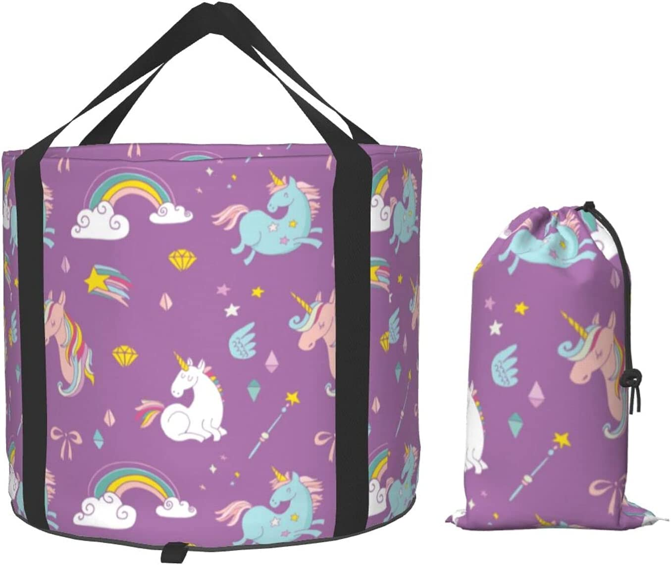 Rainbow Star Unicorns Collapsible Multifunctional Portabl Large discharge sale All stores are sold Bucket
