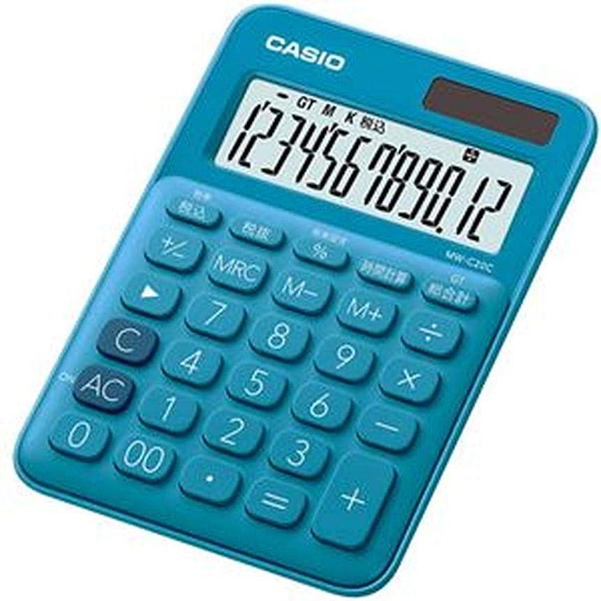 大秘書おめでとう==まとめ== カシオ?カラフル電卓?ミニジャストタイプ12桁?レイクブルー?MW-C20C-BU-N?1台-×5セット-