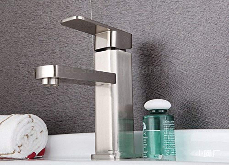 Faucetbathroom Sink Taps Deck Mounted Brass Brushed Nickel Bathroom Basin Faucet Mixer Taps