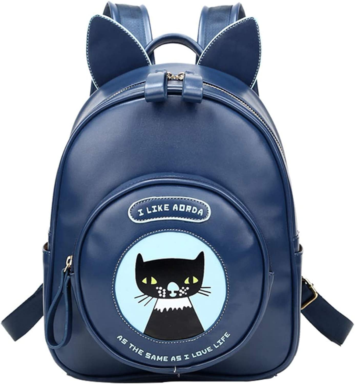 Laptop BackpackBusiness Computer Bag Casual Pu Shoulder Bag Handbags Travel Bag Cute College Wind Hiking Riding Camping Bag