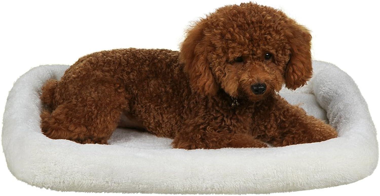 f56d9d303fe9 QIAOQI Dog Washable Pet Fleece Bed Cat Crate Cushion Mat Small Cream ...