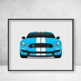Shelby GT350 S550 Ford Mustang (2015-2018) Poster Print Wall Art Decor Handmade Carroll Shelby