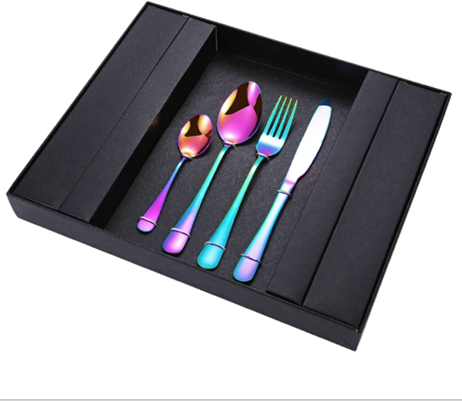 24-PCS Gold Silverware Flatware Steel New Free Shipping Set Year-end annual account Cu Stainless