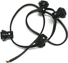Westinghouse 22382 - Candelabra Base Black 4 Light Harness Set Socket (4 LITE HARNESS SET CAND BLA)