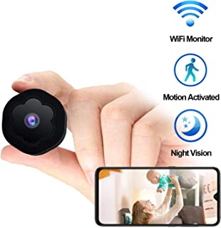 Mini Spy Camera WiFi Hidden Camera Wireless HD 1080P Monitor for Home Security Nanny Cam with Night Vision Motion Detection Recording, Battery Powered Remote View for iOS/Android Phones