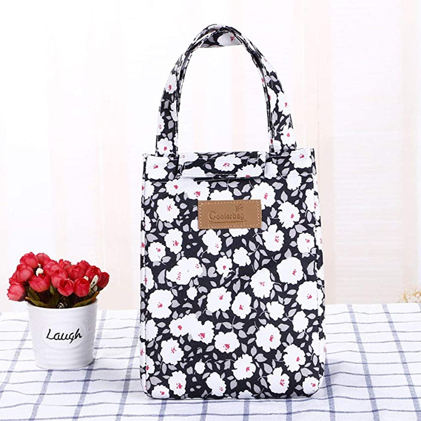 FIged Multifunctional portable lunch box lunch bag canvas tote QSND,Cotton Canvas Bag Picnic Pouch Lunch Container